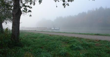 Herbststimmung am Dortmund-Ems-Kanal, Hiltrup. Agentur Signum Lindemann Münster