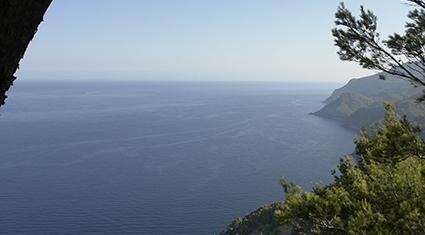 Ein toller Blick entlang der Westküste Mallorcas.