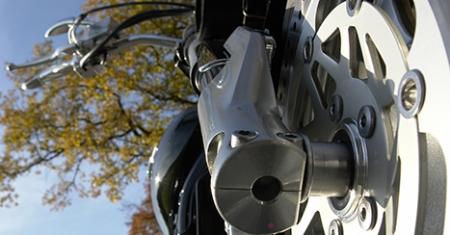 Details eines Motorrades
